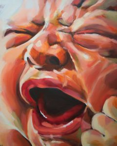 Screaming newborn